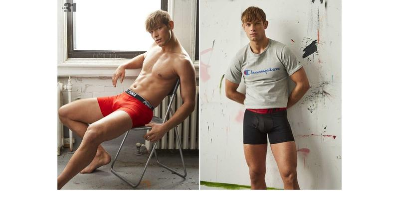 'Influence Artistique' Underwear Lookbook by Greg Vaughan for Simons Canada